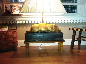 Sleeping Pig Lamp