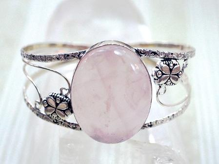 Rose Quartz and Sterling Ring